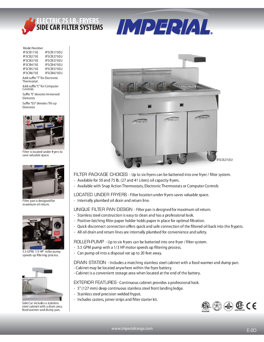 Imperial IFSCB575EUC Multiple Battery Electric Fryer