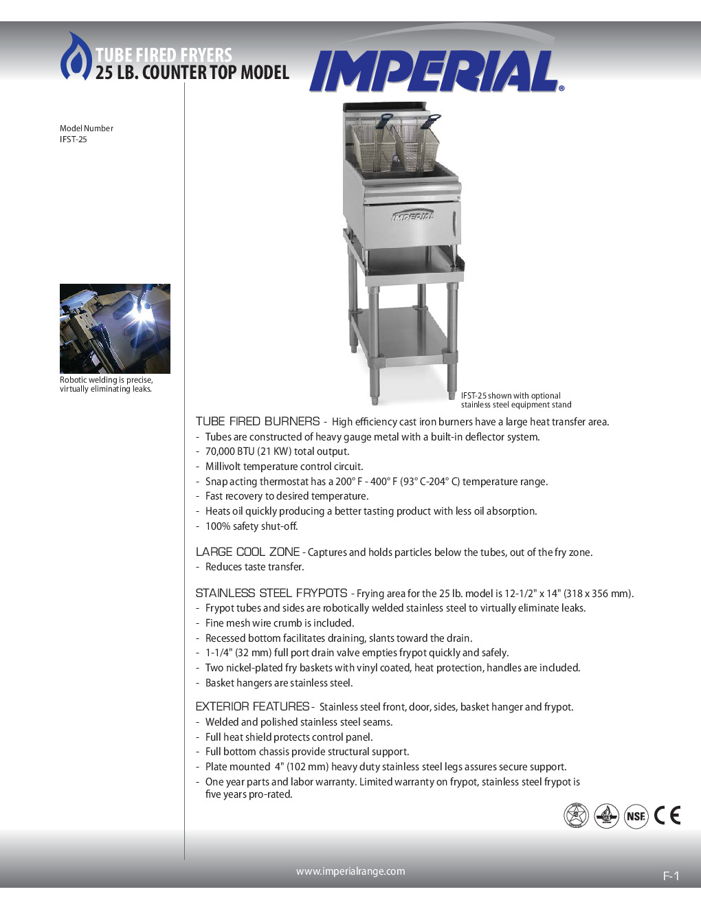 Imperial IFSTS-25 for Countertop Cooking Equipment Stand