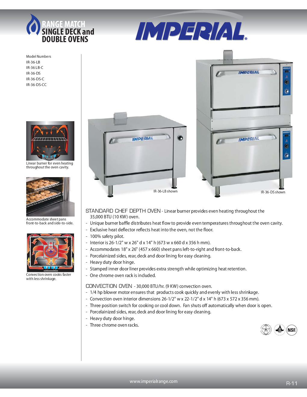 Imperial IR-36-DS-CC Restaurant Type Gas Oven