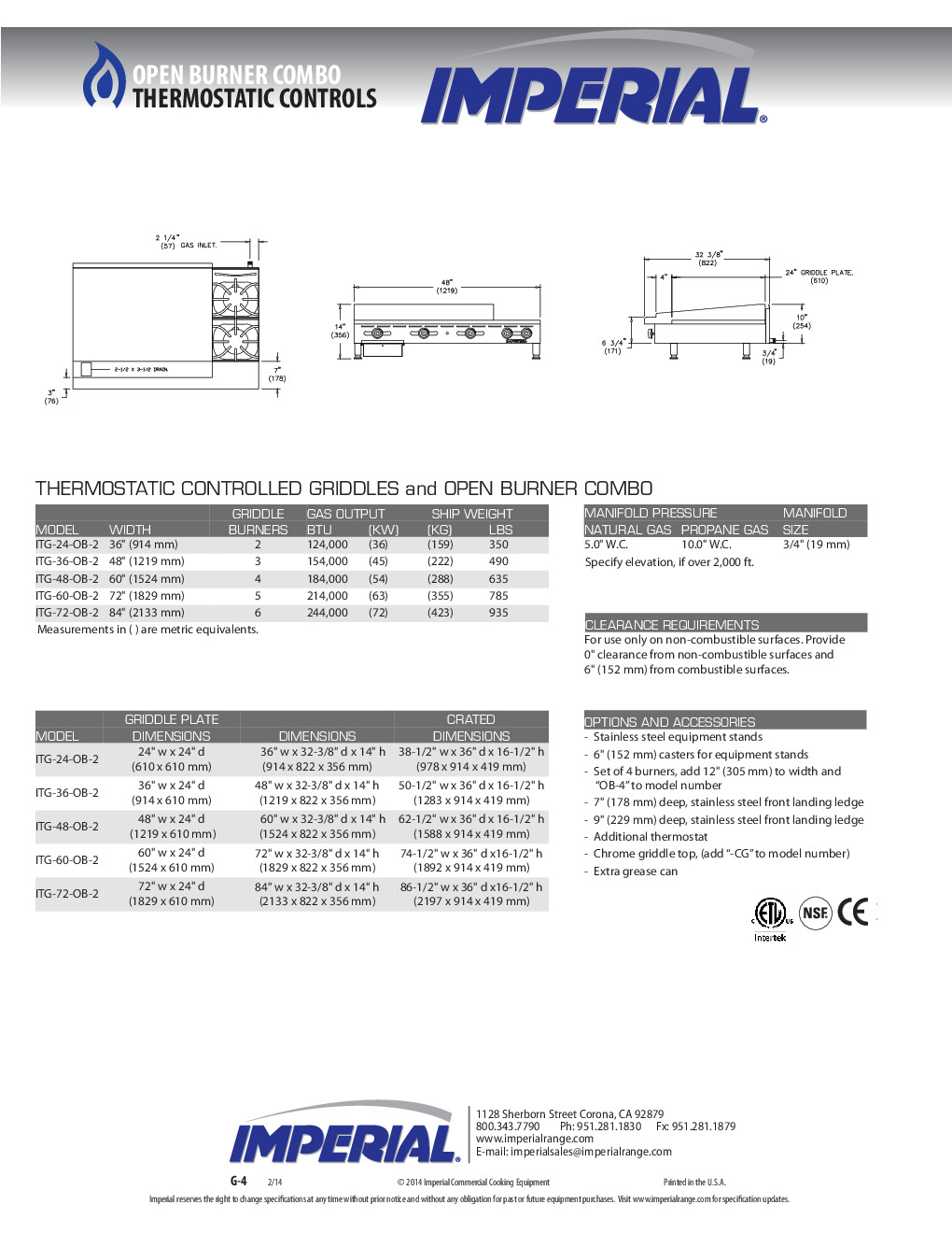 Imperial ITG-36-OB-2 48