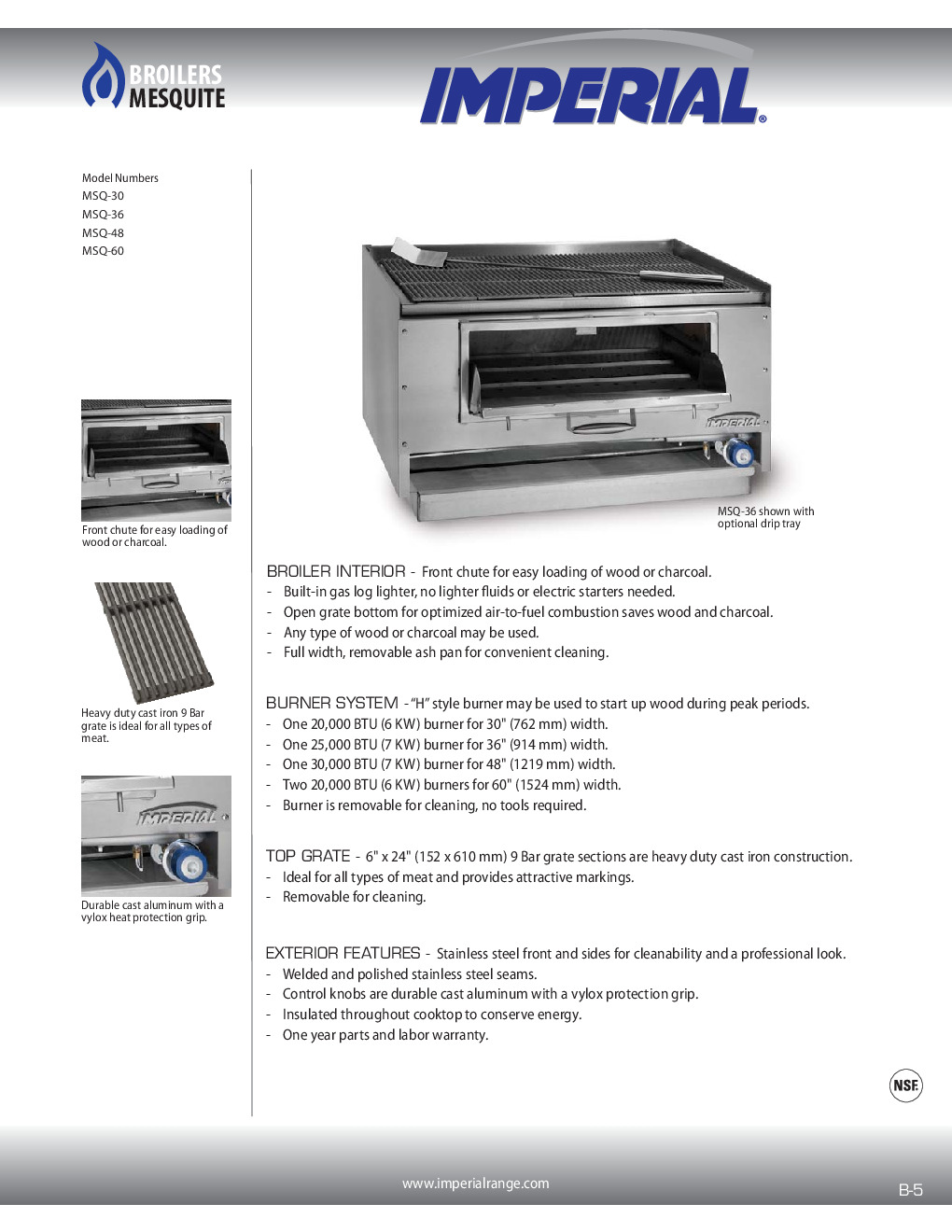 Imperial MSQ-60 Wood Burning Charbroiler