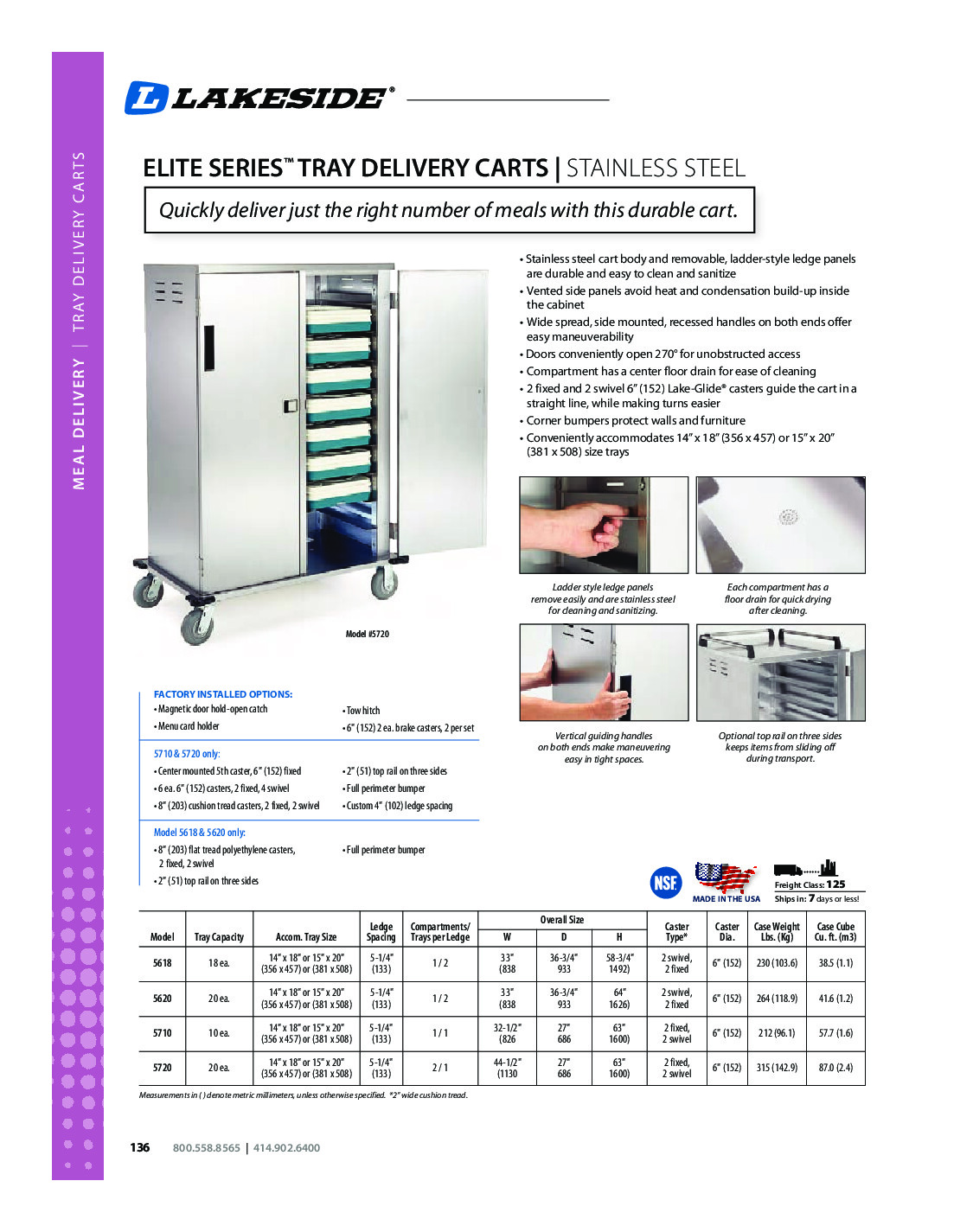 Lakeside 5720 Meal Tray Delivery Cabinet